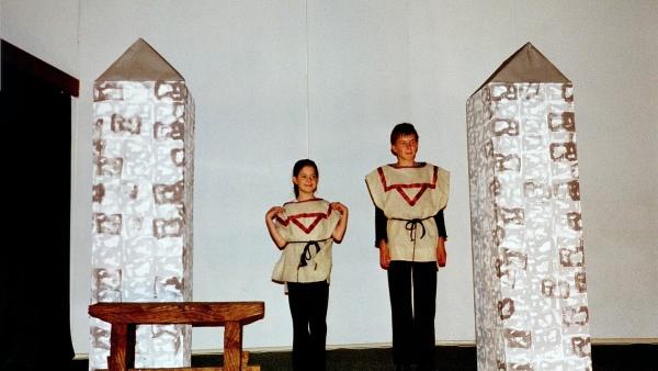 Junges Theater Beber: Viel Lärm um nichts 2001 - 2 Wachen harren der kommenden Dinge