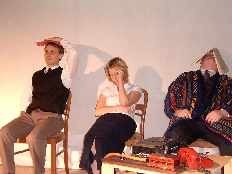 Higgins, Eliza, Pickering: Pygmalion! (Junges Theater Beber 2003)