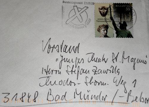 Post fürs Theater von einem guten Freund: Adolf Späth