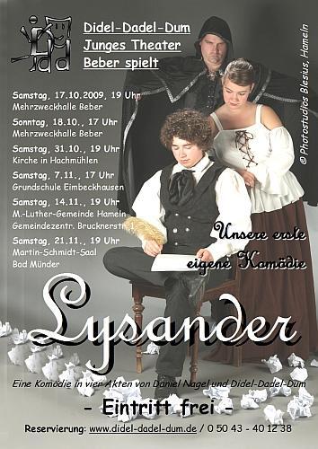 Junges Theater Beber: Lysander 2009 - Plakat