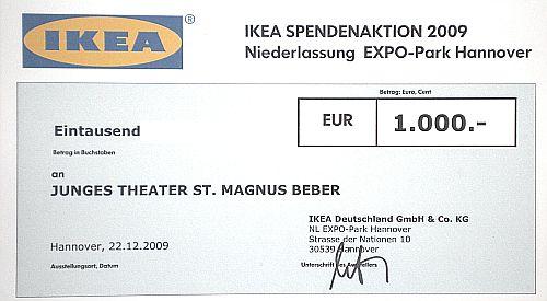 1000-Dank an Ikea!