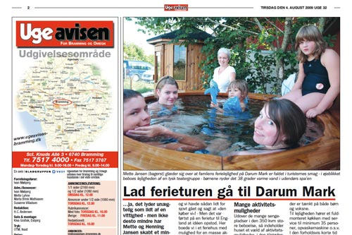 Wir in der Zeitung – in Dänemark!