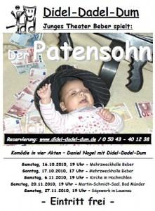 Junges Theater Beber 2010: Das Plakat zum Stück Der Patensohn