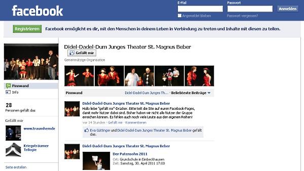 Die Didel-Dadel-Dum Facebook-Seite