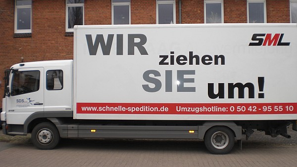 Didel-Dadel-Dum Sponsor: Transporter der Schnelle Spedition