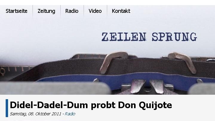 Zeilen Sprung - das Redaktionsbüro berichtet über Didel-Dadel-Dum