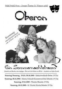 Junges Theater 2005: Plakat für Oberon
