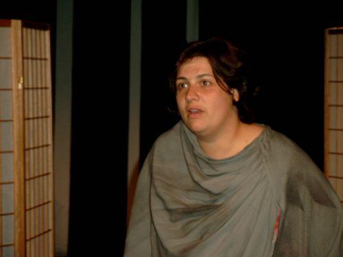 Peggy Zawilla bei der Abschlussaufführung in Oldenburg
