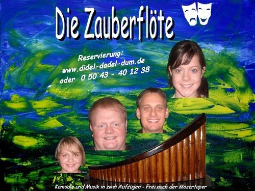 Junges Theater Beber 2006, Die Zauberflöte: Plakat und Titelmotiv