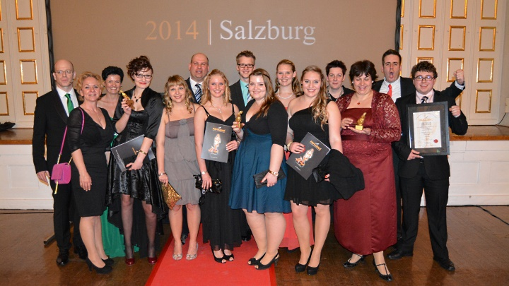 Papageno Award 2014 in Salzburg: Gruppenfoto Junges Theater Beber